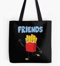 Matching Burger and French Fries Best Friends Design Tote Bag