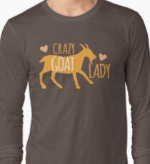 Crazy GOAT lady Long Sleeve T-Shirt