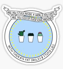 welcome to my life - simple plan Sticker