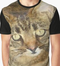 Cute Tabby Looking Up Graphic T-Shirt