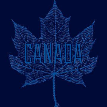 Canadá Sugar Maple Leaf en azul de Garaga