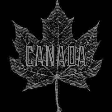 Hoja de arce de azúcar de Canadá en gris de Garaga