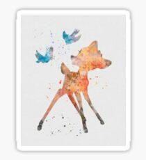 Bambi & birds Sticker