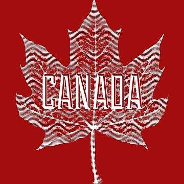 Hoja de arce de azúcar de Canadá en blanco de Garaga
