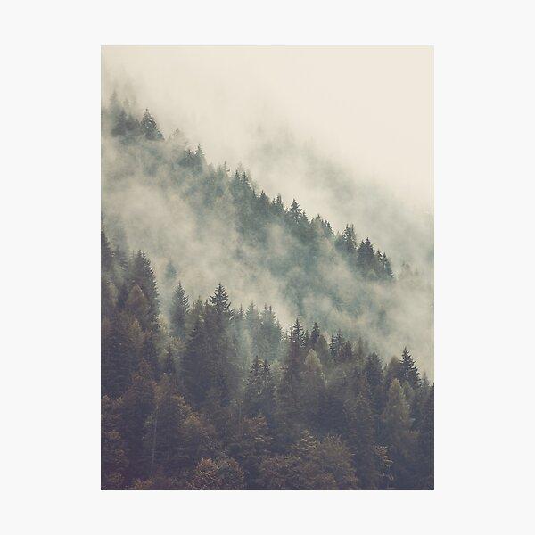 Nordic Mountain Mist Photographic Print