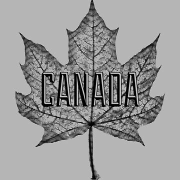 Canadá Sugar Maple Leaf en negro de Garaga