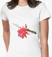 Cactus Flower Womens Fitted T-Shirt