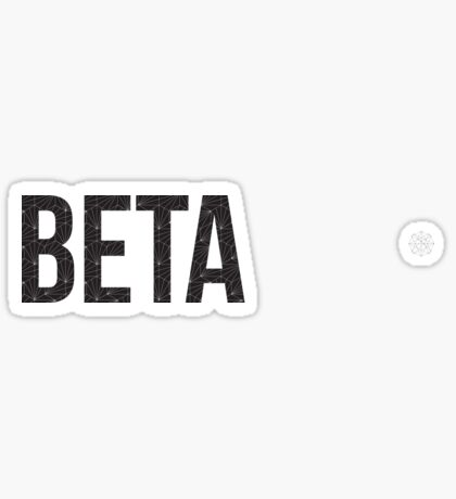 geo negro (ajustado por tamaño) - beta Pegatina