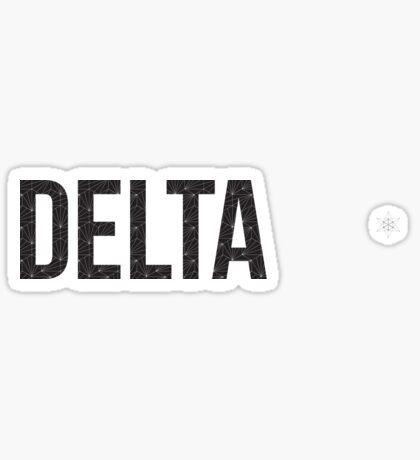 geo negro (¡ajuste de tamaño!) - delta Pegatina