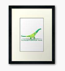 Pixel Futalognkosaurus Framed Print