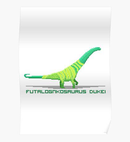 Pixel Futalognkosaurus Poster