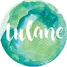 Tulane Watercolor Design by Emma Vaughters
