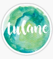 Tulane Watercolor Design Sticker