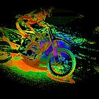 Race to the Finish! - Motocross Racer by NaturePrints