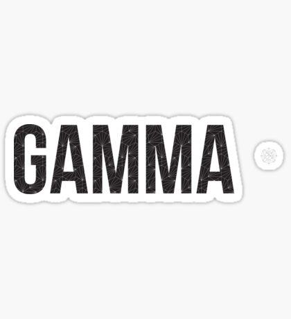 geo negro (¡ajuste de tamaño!) - gamma Pegatina