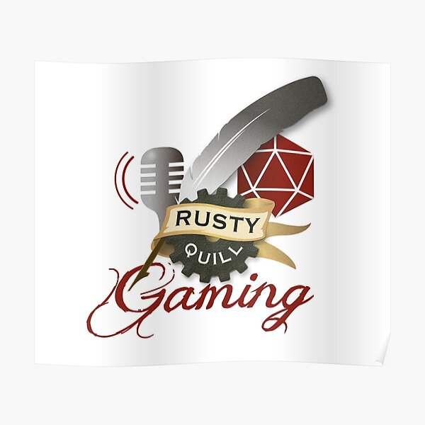 Rusty Quill Gaming Logo Poster