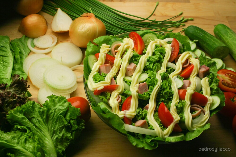 how to make a salad? by pedrodyliacco