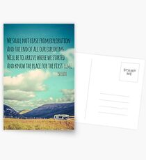 TS Eliot Travel Quote Poster Postcards