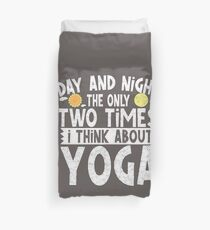 I Think About Yoga Trending Soft Screen Printed Summer Graphic Gift Tshirt Duvet Cover