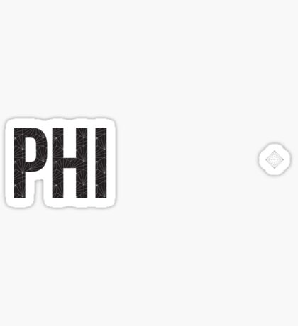 geo negro (¡ajuste de tamaño!) - phi Pegatina