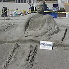 Take a moment for relaxation and reflect on this sand art - Bolsa Chica State Beach, CA by leih2008
