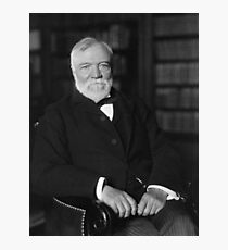 Andrew Carnegie Seated In A Library  Photographic Print