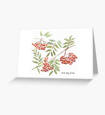Miss Rowanberry Greeting Card