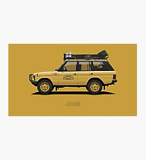Range Rover Classic 4doors Camel Trophy Photographic Print