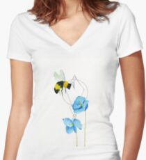 Visitor Women's Fitted V-Neck T-Shirt