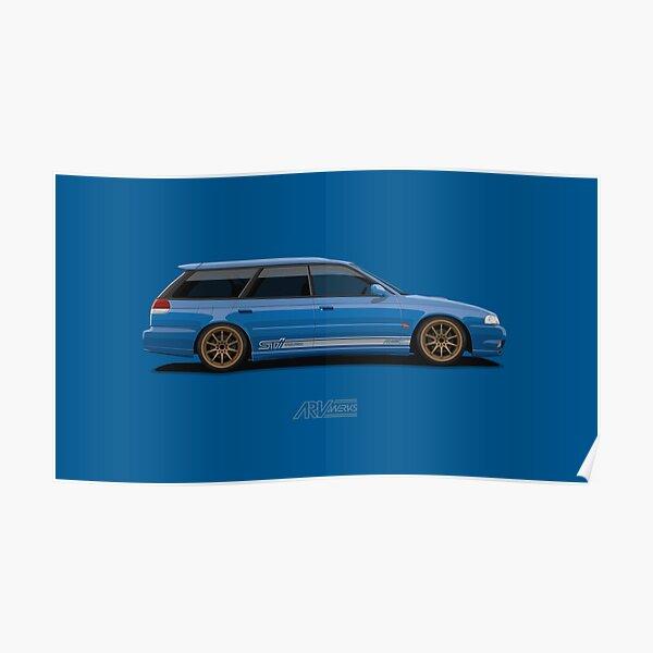 LEGACY GT-B Wagon Blue Poster