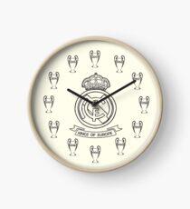 Real Madrid - 12 time Kings of Europe Clock