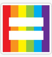 gay rainbow equality symbol Sticker