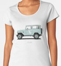 Land Cruiser FJ40 HardTop Blue Women's Premium T-Shirt