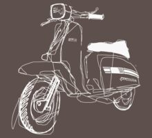 LAMBRETTA CUSTOM LINE ART DRAWING FOR GP200