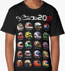 Formula 1 2017, helmets of drivers Long T-Shirt