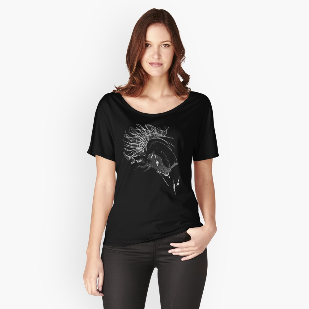 In the Mood, scribbled Women's Relaxed Fit T-Shirt Front