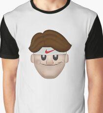 Roger Federer Face Graphic T-Shirt