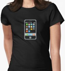 8-Bit Cell Phone Women's Fitted T-Shirt