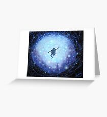"""Lost in space"" Beautiful Haunting Space Astronaut  Greeting Card"
