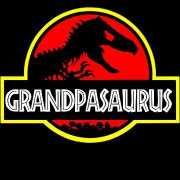 Grandpasaurus - T Rex - Funny Grandpa T-Shirts by Meli145