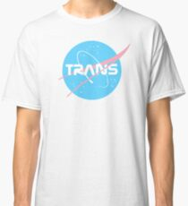 Trans* - Nasa inspired logo (Trans* Flag colours) Classic T-Shirt