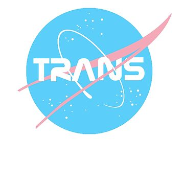 (THE ORIGINAL) Trans* - Nasa inspired logo (Trans* Flag colours) by nationalpride