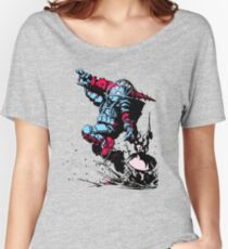 Red Blue Bio shock Women's Relaxed Fit T-Shirt