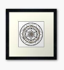 Black, White and Gold Mandala Framed Print