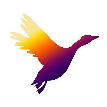 Rainbow goose by victoriawalkden