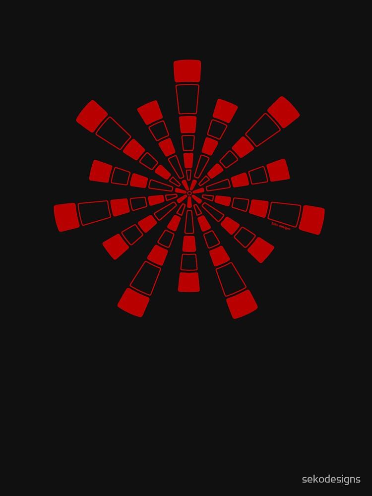 Mandala 31 Colour Me Red by sekodesigns