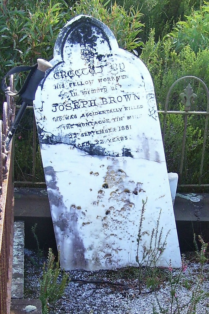 RIP - hidden gravesite on side of a track in the foothills near Zeehan by gaylene