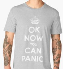 Brexit Panic Keep Calm Parody Men's Premium T-Shirt