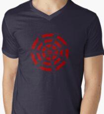 Mandala 30 Colour Me Red Mens V-Neck T-Shirt