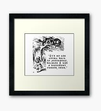 No use going back to yesterday Framed Print
